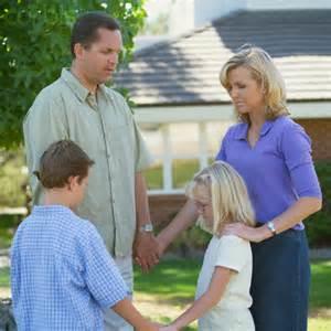 Parents Praying with Children