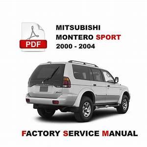 Mitsubishi Montero Sport 2000 2001 2002 2003 2004 Service