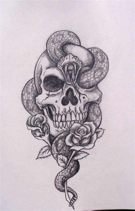 amazing skull  snake tattoos