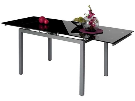 table de cuisine noir table rectangulaire avec allonge 200 cm max 3