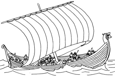 How To Draw Boat With Colour by Viking Printable Coloring Pages