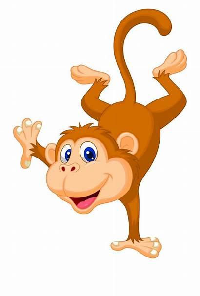 Monkey Cartoon Clip Clipart Background Standing Monkeys