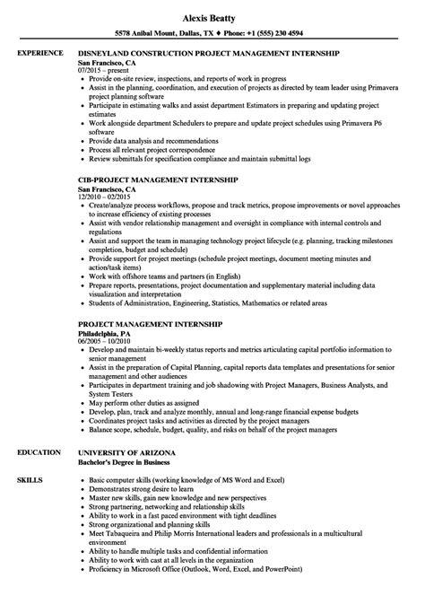 Venture Capital Resume by Project Management Intern Resume Bijeefopijburg Nl