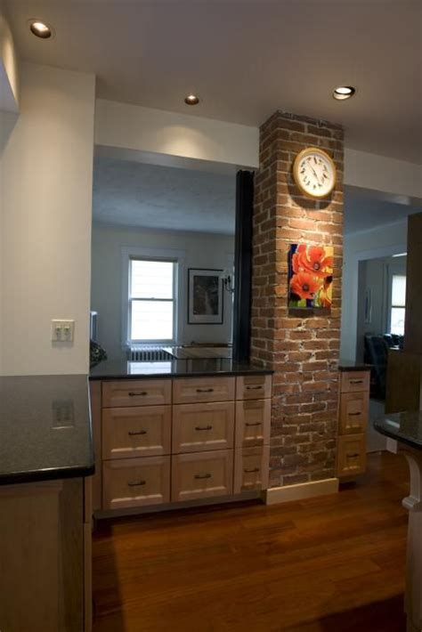 opened   wall   chimney stack   focal point