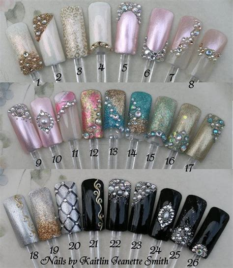 prom nail art prom artificial nail art  etsy
