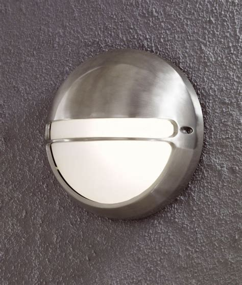 orbital round external wall light with ip44 rating