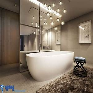 Bathroom lighting ideas with hanging lights over
