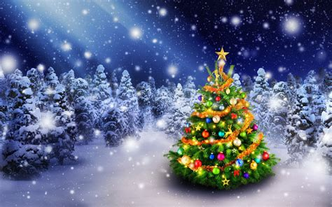 wallpaper christmas tree spruce trees decoration