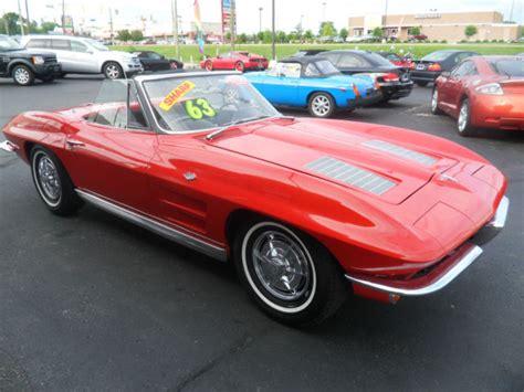 chevrolet corvette convertible  red  sale
