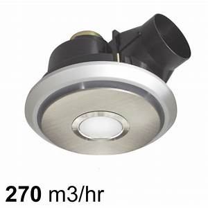 Brilliant boreal 270 exhaust fan with led light for Stainless steel bathroom fan