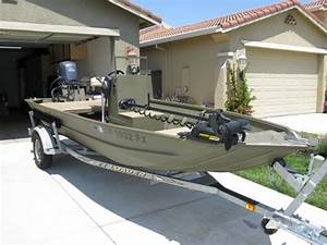 2003 Lowe Roughneck 1652vt Jon Boat W   Yamaha 4 Stroke  60hp Prop And 40hp Jet Units