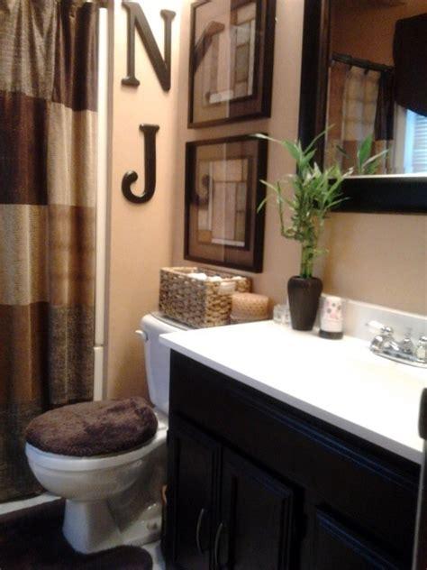 bathroom decoration idea warm color palette colour