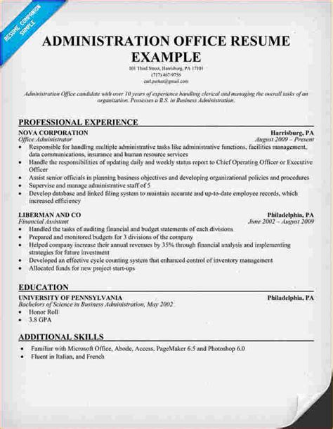 Administrative Tasks Resume by Academic Resume Sle 7 Letter Of Regret Sle Academic Resume Template
