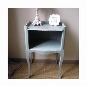 Table De Chevet Bleu : chevet style louis xvi patine l 39 ancienne bleu scandinave ~ Preciouscoupons.com Idées de Décoration
