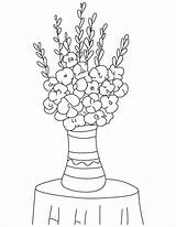 Bulb Flower Template Coloring Gladiolus Pages Bulbs sketch template