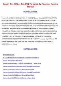 Denon Avr 3312ci Avr 3312 Network Av Receiver By