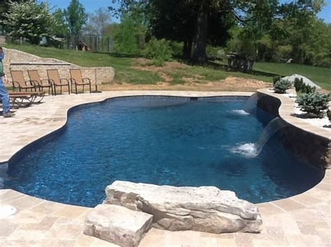 Thomasville Lamps by Midnight Blue Plaster With Quartz Traditional Pool