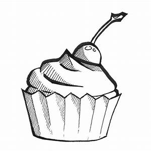 Cupcake Line Drawing - ClipArt Best