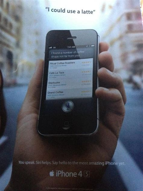 siri print ad shows up in rolling magazine