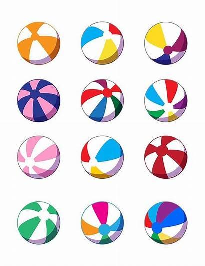 Beach Balls Clipart Ball Colorful Vector Clip