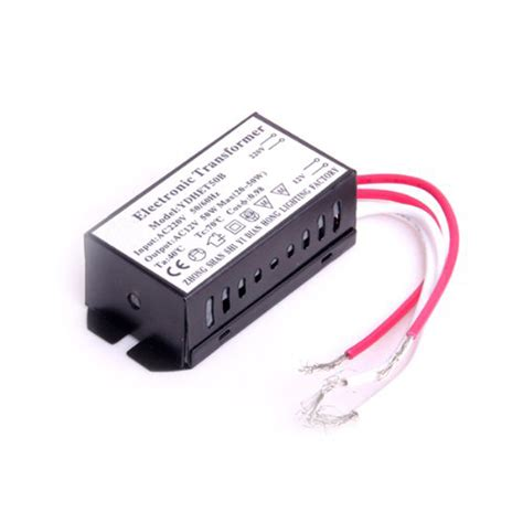 50w transformateur electronique de 220v a 12v pour lumiere halogene wt ebay