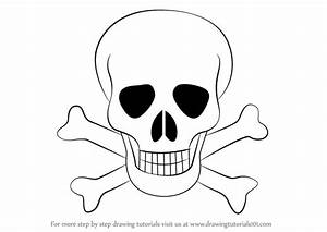 Learn How to Draw Skull with Crossbones (Skulls) Step by ...