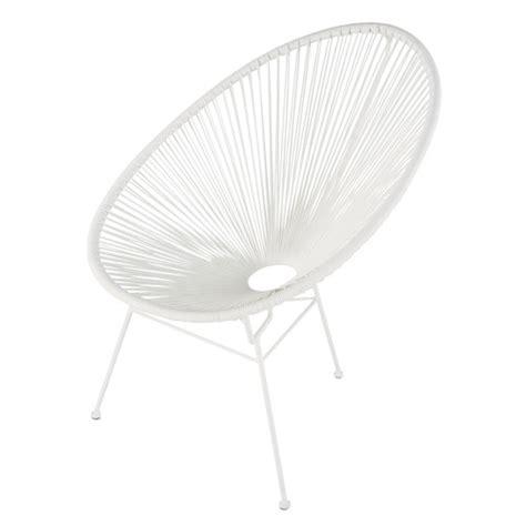 fauteuil de jardin rond blanc copacabana maisons du monde