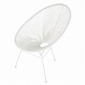 Chaise Jardin Maison Du Monde : fauteuil de jardin rond blanc copacabana maisons du monde ~ Premium-room.com Idées de Décoration