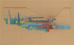 FRANK LLOYD WRIGHT (1867-1959) , A PRESENTATION DRAWING ...