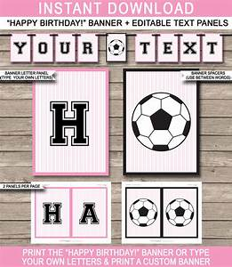 Birthday Candy Bar Wrappers Template Free Girls Soccer Party Banner Template Happy Birthday