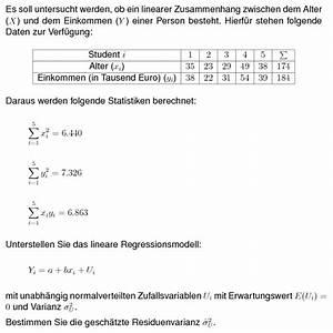 Grenzrate Der Transformation Berechnen : bungsaufgaben statistik regressionsanalyse varianz der residuen mathods ~ Themetempest.com Abrechnung