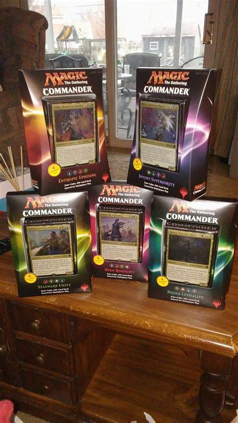 mtg commander precon decks autos post