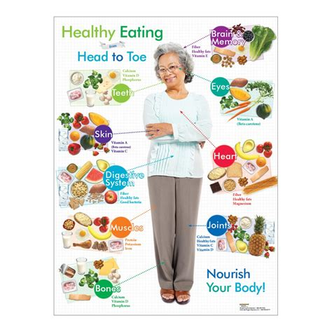 older adult healthy eating  head  toe poster