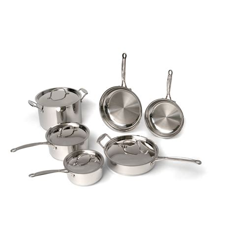 berghoff premium copper clad stainless steel  piece cookware set reviews wayfair