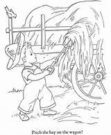 Coloring Pages Fall Harvest Hay Season Sheets Harvesting Printables Colouring Seasons Honkingdonkey Leaves Kid Activity Mulching Related Karate Popular Coloringhome sketch template