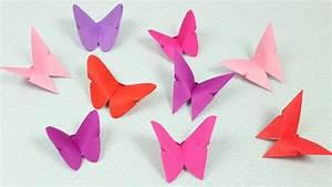 Schmetterlinge Aus Papier : origami schmetterlinge falten diy youtube ~ Lizthompson.info Haus und Dekorationen