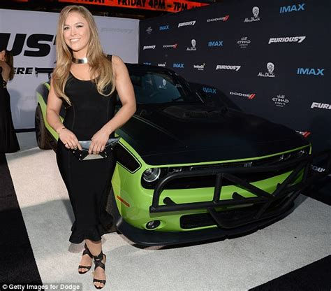 Fast Seven Cars by Ronda Rousey A Knockout At Fast Furious 7 Premiere As