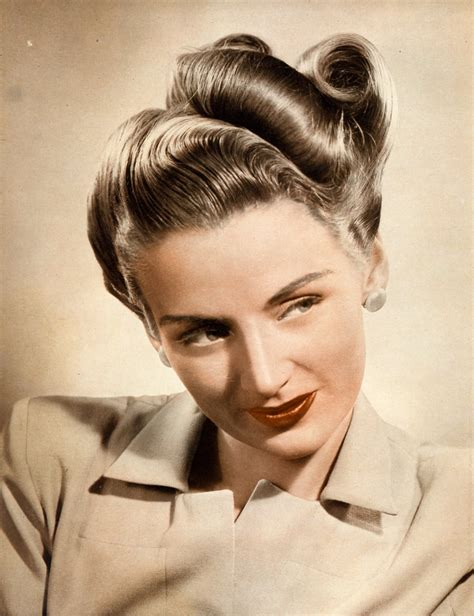 1940s hairstyles updo 20 vintage hairstyles for hair in 2016 magment