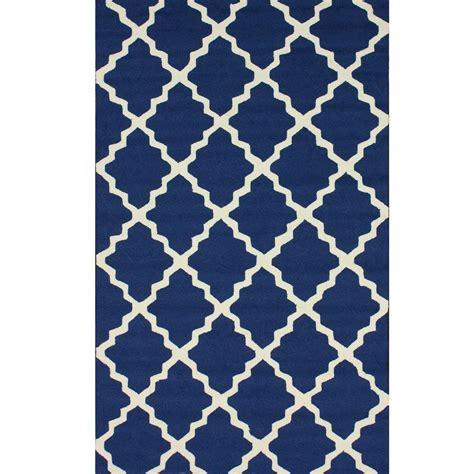 shop navy blue outdoor trellis outdoor rug 4ft x 6ft