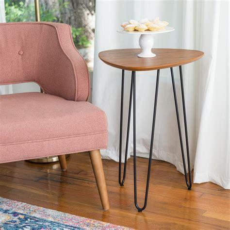 walker edison furniture company   walnut hairpin leg