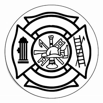 Maltese Cross Fire Coloring Department Pages Drawing