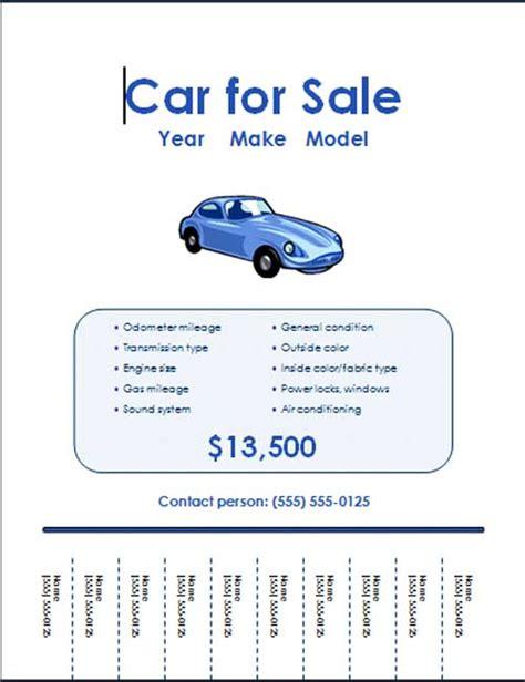 car  sale flyer templates word excel  templates
