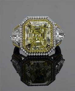 Fancy canary yellow diamond engagement ring orospotcom for Wedding rings with yellow diamonds
