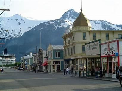 Alaska Skagway Towns Usa Alaskan Commons Datei