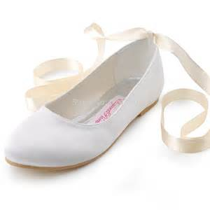 ivory ballet flats wedding 39 s satin white ivory black garden wedding closed toe flats lace up bridal shoes