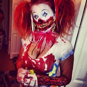 killer clown halloween makeup idea | Creative Ads and more…