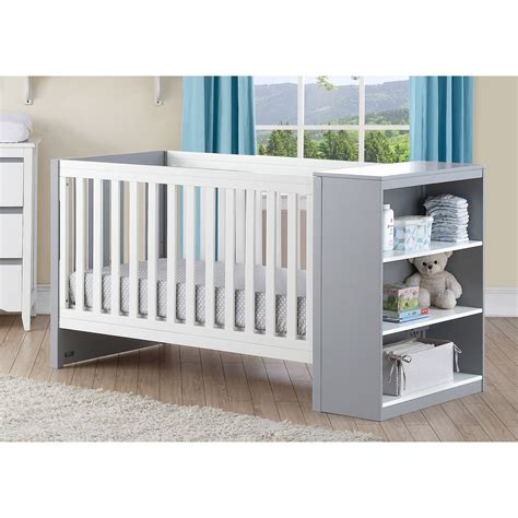 Crib Combos by Baby Relax Ayla 2 In 1 Convertible Crib And Changer Combo