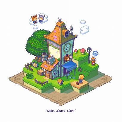 Pixel Drawn Isometric Mari Jowee Fanart Baki