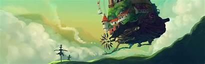 Moving Castle Howls Background Desktop Backgrounds Anime