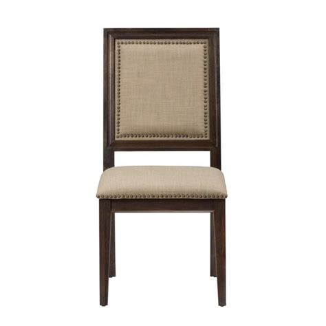 wood dining table with upholstered chairs jofran geneva hills wood upholstered dining chair set of